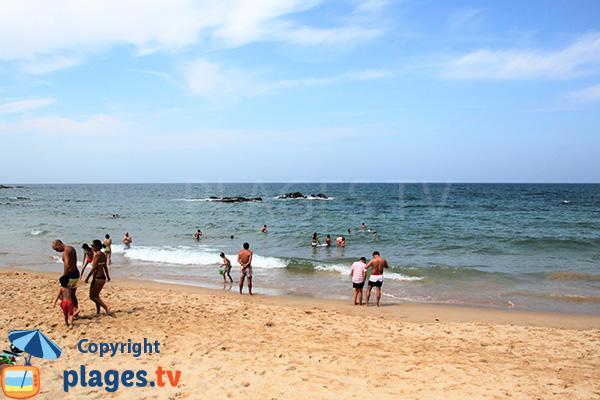 Baignade sur la plage de Nossa Senhora à Almograve - Portugal