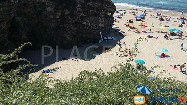 Ombre sur la plage d'Odeceixe