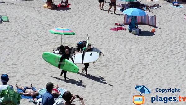 Sport nautique sur la plage d'Odeceixe - Portugal