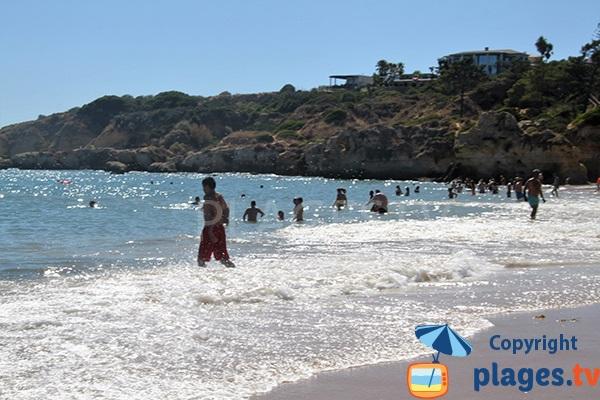 Falaises autour de la plage d'Oura - Albufeira