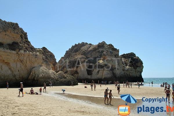 photo de la plage de Prainha Hantero à Portimao au Portugal