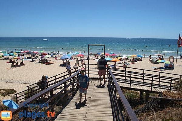 Accès à la plage de Rocha Baixinha Poente - Albufeira