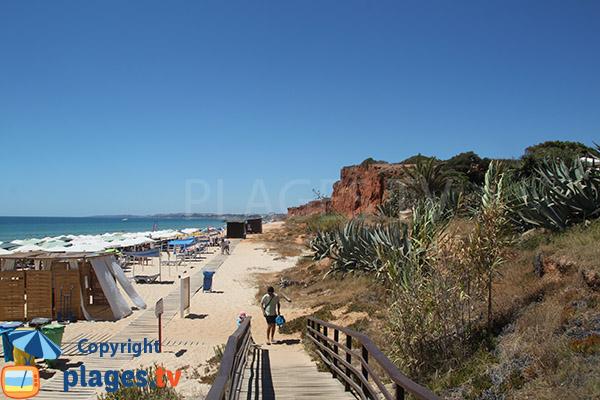 Environnement de la plage de Rocha Baixinha Poente - Albufeira