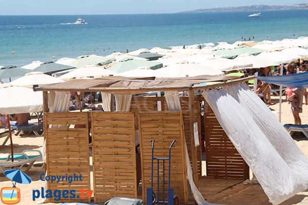 Salon de massage - plage de Rocha Baixinha Poente