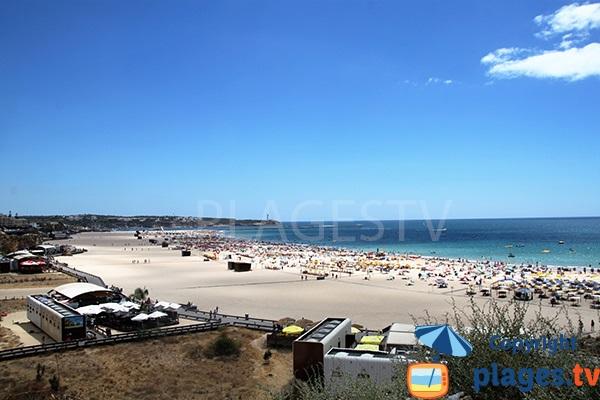 Grande plage à Portimao - portugal