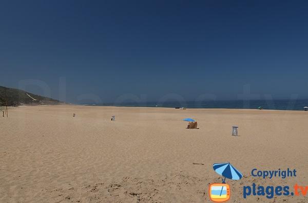 Grande plage de Salgado au Portugal