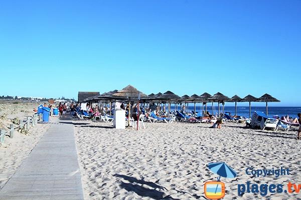 Plage privée sur la plage de Salgados - Albufeira - Portugal