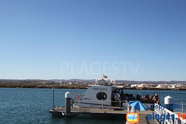 Bateau pour l'ile de Tavira