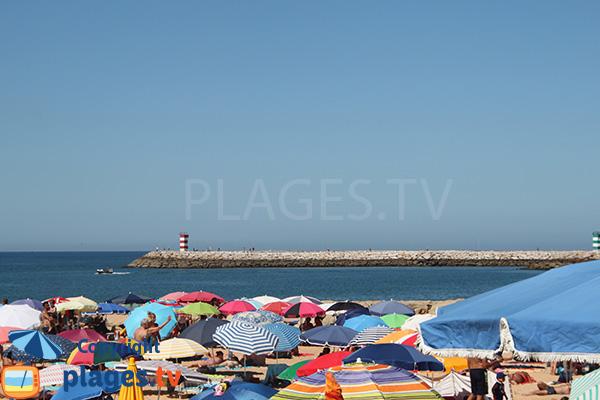 Port depuis la plage Vidal - Quarteira