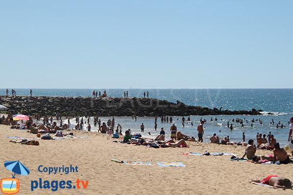 Brise lame sur la plage de Vidal - Quarteira
