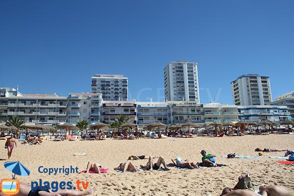 Front de mer de Quarteira au niveau de la plage de Vidal - Portugal