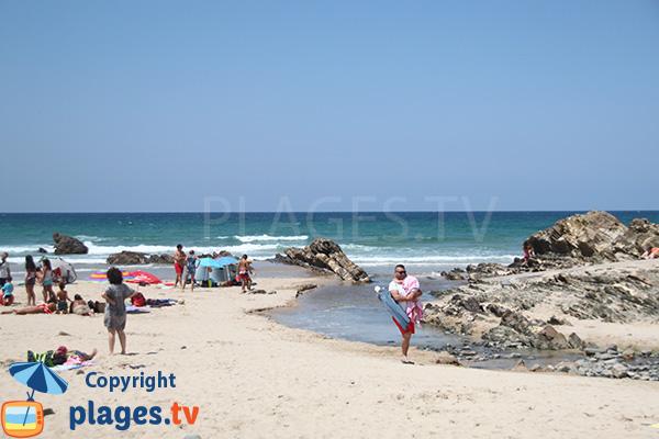 Plage et rivière de Zambujeira do Mar - Portugal