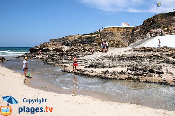 Accès à la plage de Zambujeira do Mar