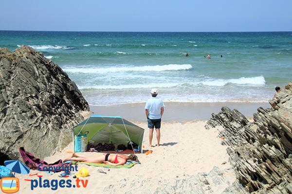 Schiste sur  la plage de Zambujeira do Mar
