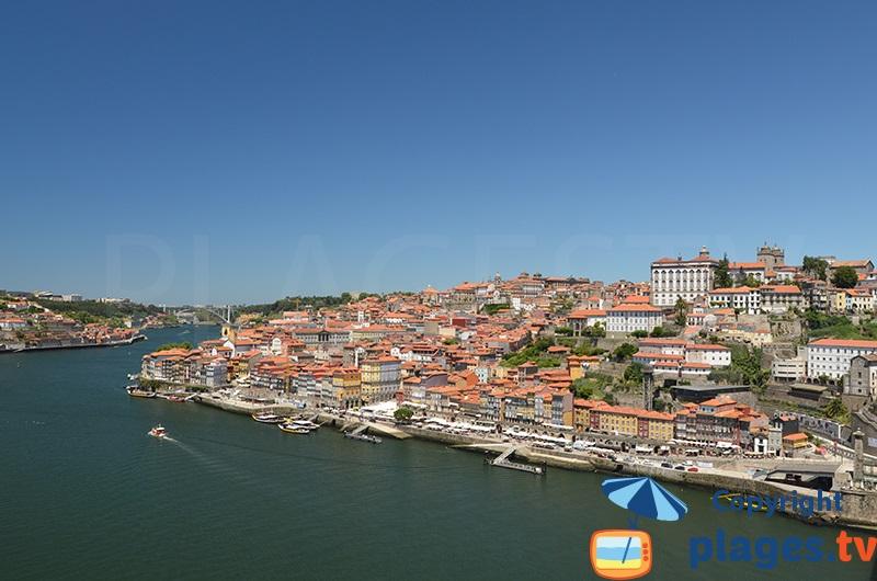 Porto au Portugal depuis le pont Dom Luis