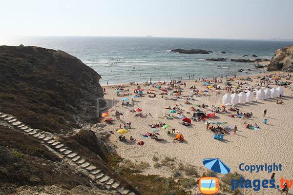 Escalier de la Praia Grande de Porto Covo