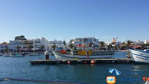 Le port de Santa Luzia au Portugal